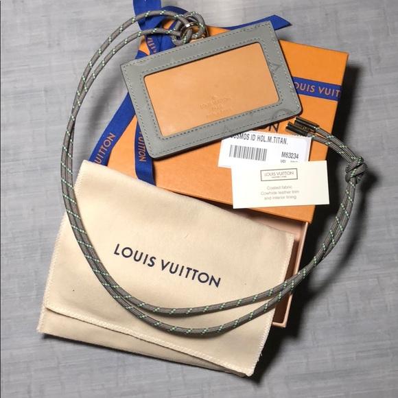 914f5b428ca Louis Vuitton Titanium Cosmos ID holder lanyard